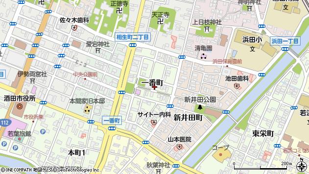 山形県酒田市一番町7周辺の地図