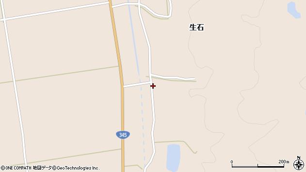 山形県酒田市生石滝野沢254周辺の地図