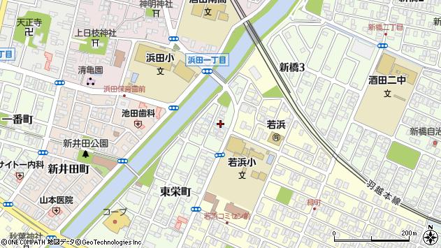 山形県酒田市東栄町2周辺の地図