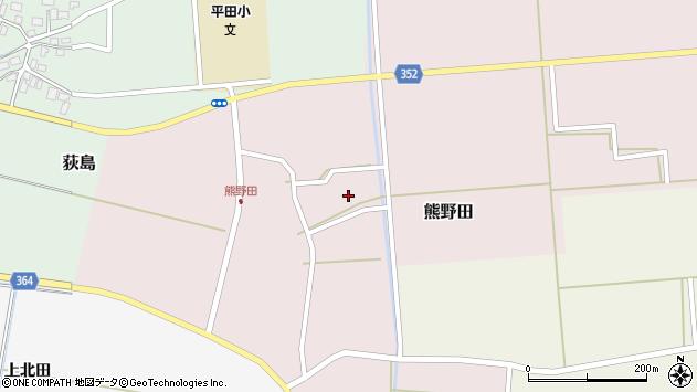 山形県酒田市熊野田仁田12周辺の地図