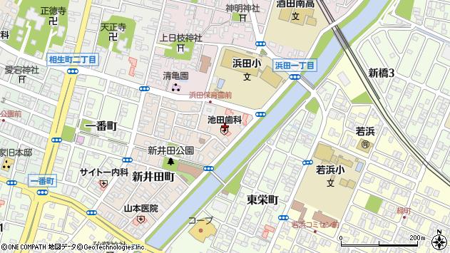 山形県酒田市新井田町1周辺の地図