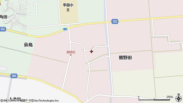 山形県酒田市熊野田周辺の地図