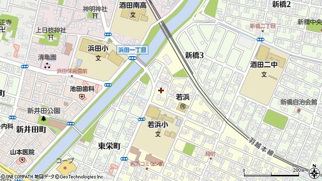 山形県酒田市若浜町19周辺の地図
