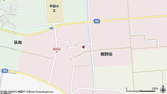 山形県酒田市熊野田高砂周辺の地図