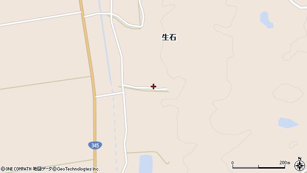 山形県酒田市生石二ツ山332周辺の地図