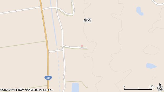 山形県酒田市生石二ツ山周辺の地図
