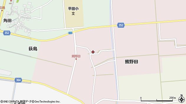 山形県酒田市熊野田仁田17周辺の地図