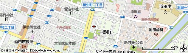 山形県酒田市一番町3周辺の地図