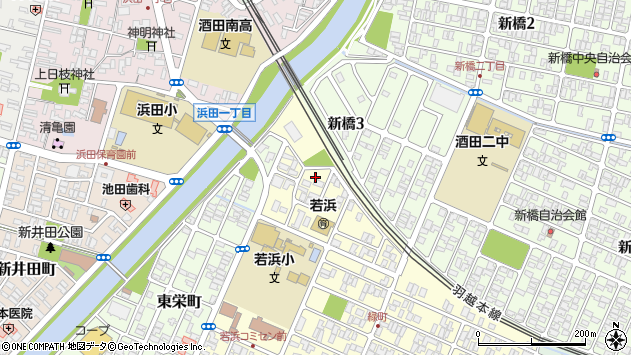 山形県酒田市若浜町20周辺の地図