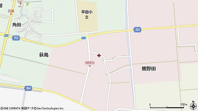 山形県酒田市熊野田仁田42周辺の地図