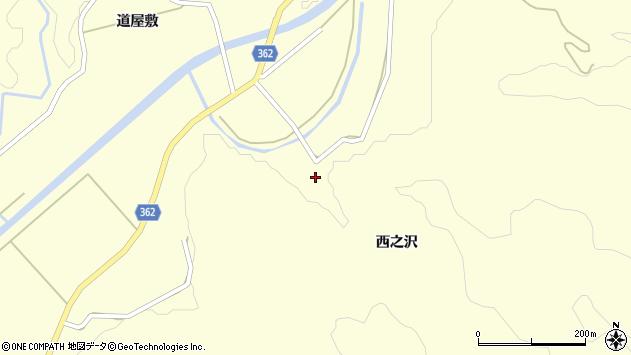 山形県酒田市北俣西之沢42周辺の地図