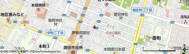 山形県酒田市中町1丁目周辺の地図