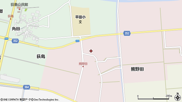 山形県酒田市熊野田仁田44周辺の地図