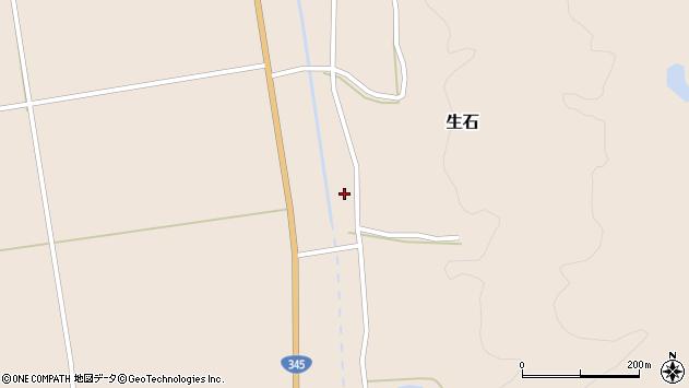山形県酒田市生石十二ノ木14周辺の地図