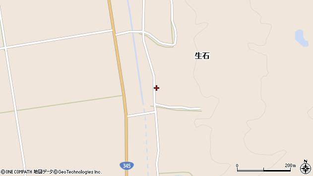 山形県酒田市生石十二ノ木23周辺の地図