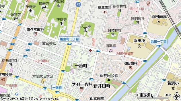 山形県酒田市一番町1周辺の地図