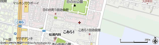 山形県酒田市日の出町2丁目周辺の地図
