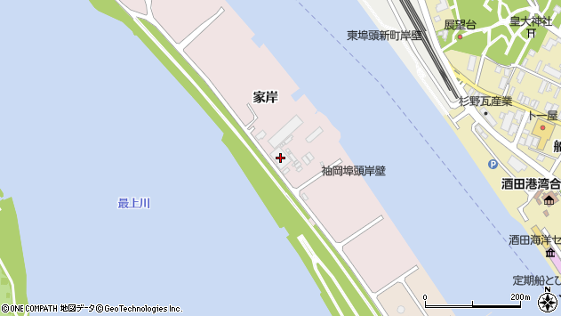 山形県酒田市宮野浦家岸周辺の地図