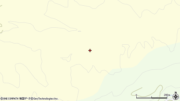 山形県酒田市北俣向山周辺の地図
