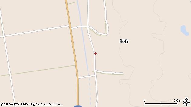 山形県酒田市生石十二ノ木24周辺の地図