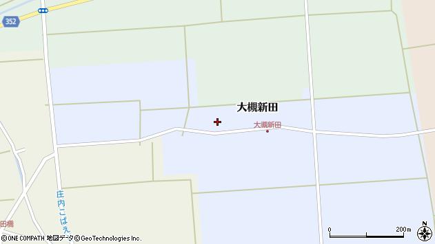 山形県酒田市大槻新田周辺の地図