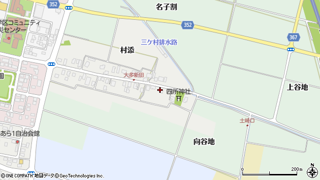 山形県酒田市大多新田39周辺の地図