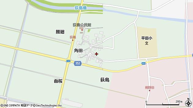 山形県酒田市荻島面桜周辺の地図