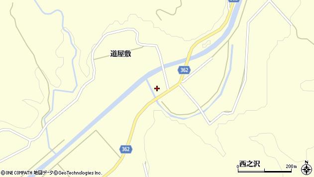 山形県酒田市北俣手代山周辺の地図