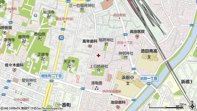 山形県酒田市浜田1丁目周辺の地図
