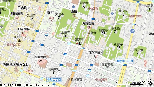 山形県酒田市中央西町5周辺の地図
