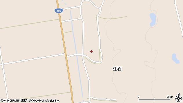 山形県酒田市生石十二ノ木周辺の地図