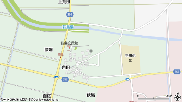山形県酒田市荻島腰廻18周辺の地図