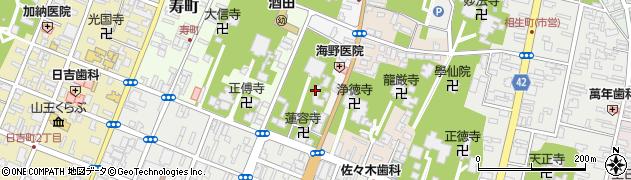 山形県酒田市中央西町周辺の地図