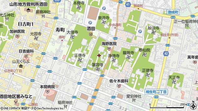 山形県酒田市中央西町4周辺の地図