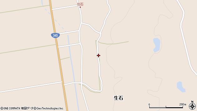 山形県酒田市生石十二ノ木175周辺の地図