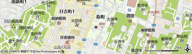 山形県酒田市寿町6周辺の地図