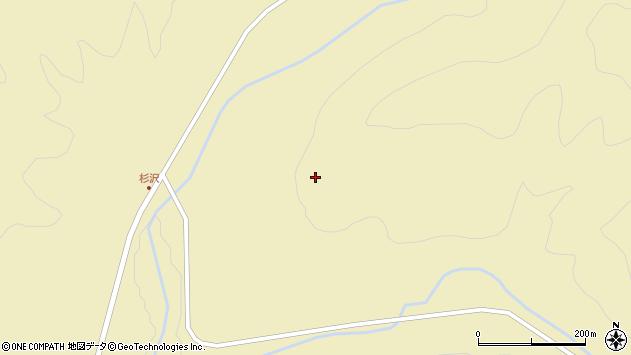 山形県最上郡金山町中田杉沢周辺の地図