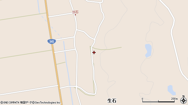 山形県酒田市生石十二ノ木176周辺の地図