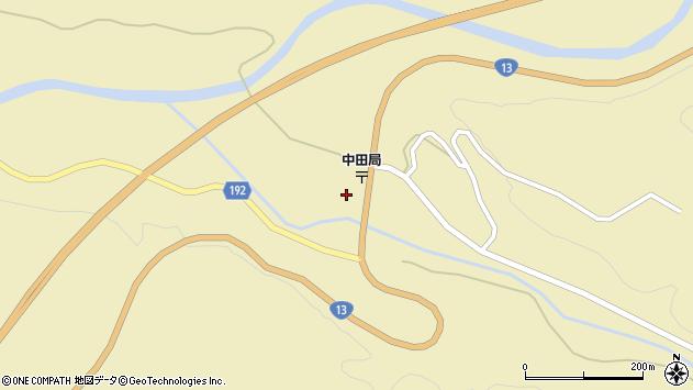 山形県最上郡金山町中田253周辺の地図