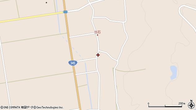 山形県酒田市生石十二ノ木195周辺の地図