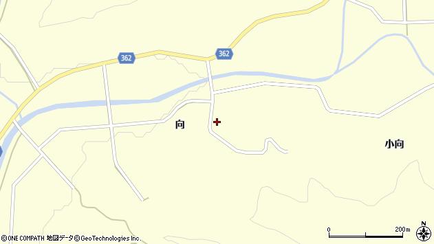 山形県酒田市北俣向26周辺の地図