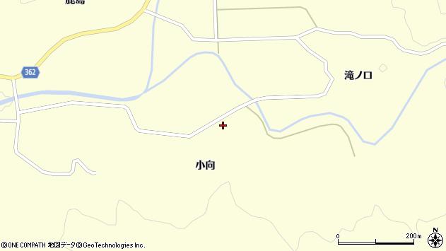 山形県酒田市北俣小向周辺の地図