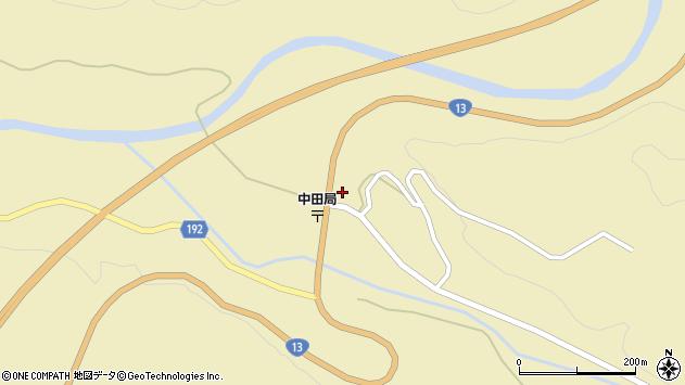 山形県最上郡金山町中田232周辺の地図