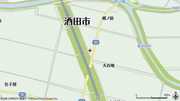 山形県酒田市漆曽根大谷地周辺の地図