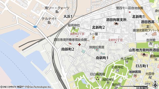 山形県酒田市南新町2丁目周辺の地図