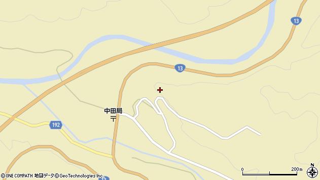 山形県最上郡金山町中田下中田周辺の地図