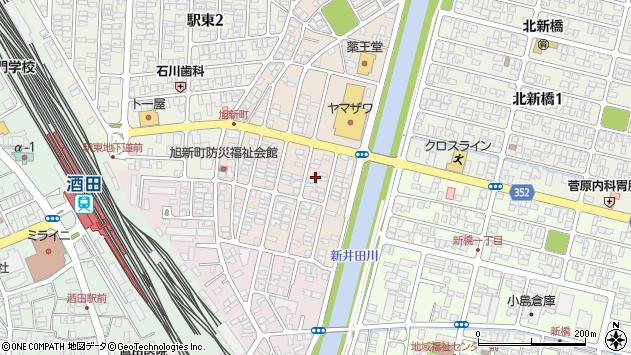 山形県酒田市旭新町9周辺の地図