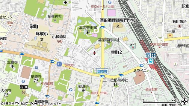 山形県酒田市御成町1周辺の地図