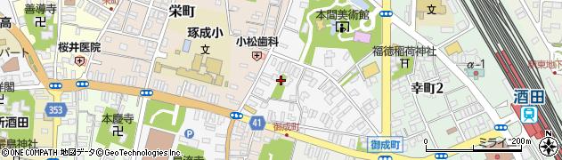 山形県酒田市御成町5周辺の地図