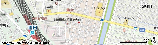山形県酒田市旭新町11周辺の地図